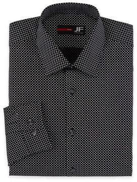 Jf J.Ferrar Long Sleeve Broadcloth Pattern Dress Shirt - Slim