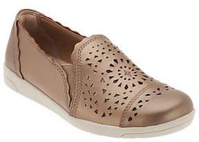 Earth Origins Perforated Slip-on Shoes- Celeste