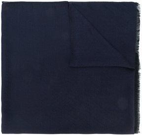 Z Zegna classic frayed scarf