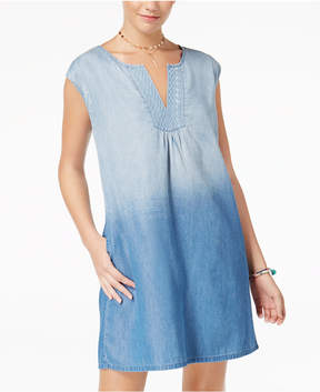 As U Wish Juniors' Ombre Denim Shift Dress