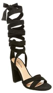Mossimo Women's Kayson Block Heel Pumps with Ankle Wrap Black