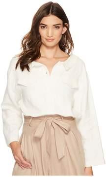 J.o.a. Lace-Up Back Woven Jacket Women's Clothing