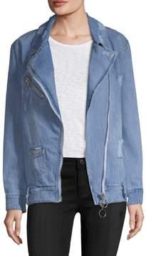 Bagatelle Women's Denim Moto Jacket