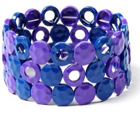 Amrita Singh Blue & Purple Moma Stretch Bracelet