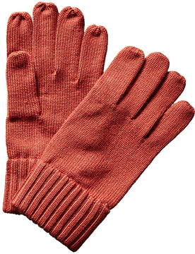 Portolano Men's Tomato Wool Gloves