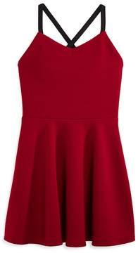 Aqua Girls' Textured Crisscross-Back Dress, Big Kid - 100% Exclusive