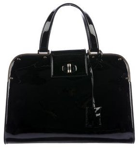 Saint Laurent Leather Uptown Tote - BLACK - STYLE