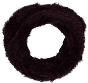 Adrienne Landau Knitted Fur Snood