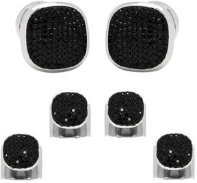 Ox & Bull Trading Co. Men's Black Pave Crystal Stud Set