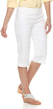 Croft & Barrow Women's Polished Pull-On Skimmer Capris