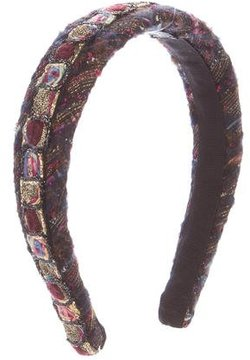 Chanel Tweed Embellished Headband