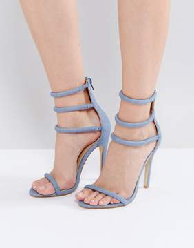 Public Desire Aisha Denim Strappy Heeled Sandals
