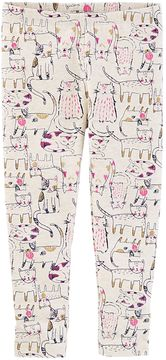 Osh Kosh Girls 4-12 Cat Leggings