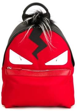 Fendi Men's Red Leather Backpack.