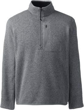 Lands' End Lands'end Men's Sweater Fleece Half-zip Pullover