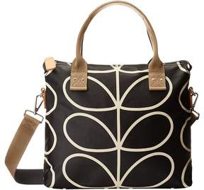 Orla Kiely Zip Messenger Satchel Handbags