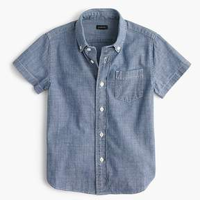 J.Crew Kids' short-sleeve chambray shirt