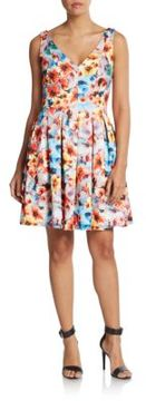 Betsey Johnson Floral Print Fit-And-Flare Dress