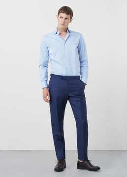 Mango Outlet Slim-fit Tailored textured shirt