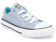 Converse Girl's Jersey Knit Canvas Low Top Sneakers