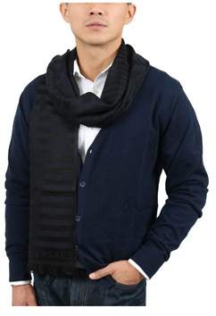 Versace It00634 Marino Navy Blue 100% Wool Mens Scarf.