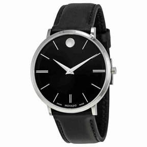 Movado Ultra Slim Black Sunray Dial Men's Watch 0607086