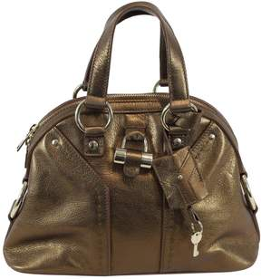 Saint Laurent Muse leather handbag - GOLD - STYLE