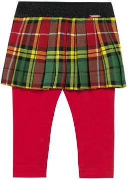 Junior Gaultier Pleated Cotton Skirt