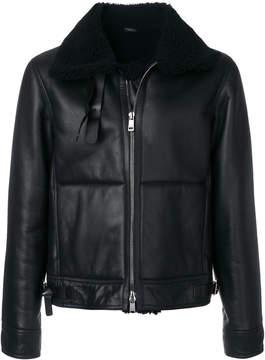 Jil Sander fur collar jacket