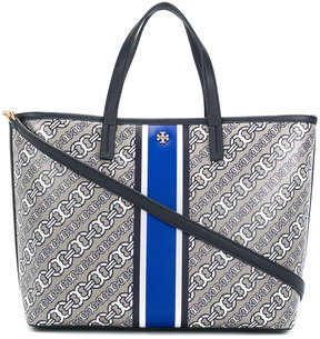 Tory Burch chain print tote bag - BLUE - STYLE