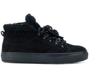 Tod's faux shearling-trimmed sneakers