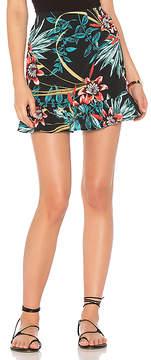 Band of Gypsies Tropical Ruffle Hem Skirt