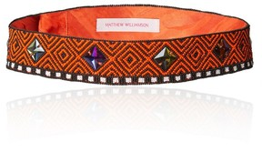 Matthew Williamson Orange Tribal Beaded Belt