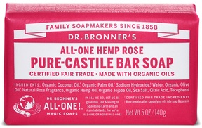 Dr. Bronner's Rose Castile Bar Soap by 5oz Bars Of Soap)