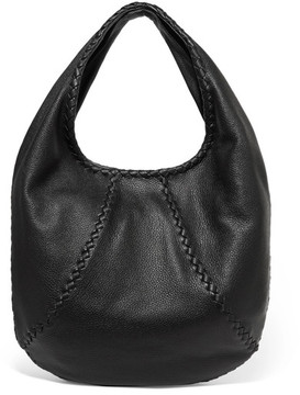 Bottega Veneta - Hobo Large Textured-leather Shoulder Bag - Black