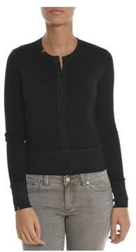 Sun 68 Women's Black Wool Cardigan.