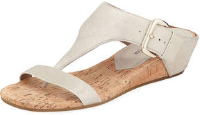 Donald J Pliner Dylan Metallic Leather Cork-Wedge Sandal