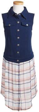 Splendid Denim Plaid Shirtdress (Big Girls)