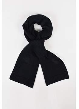 Balenciaga Pre-owned Black Wool & Alpaca Blend Knit Stole Scarf.