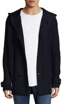 Armani Exchange Men's Textured Hooded Cardigan