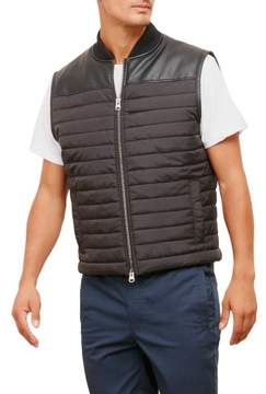 Kenneth Cole New York Reaction Kenneth Cole Pleather Pieced Vest