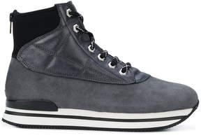 Hogan lace-up zip boots