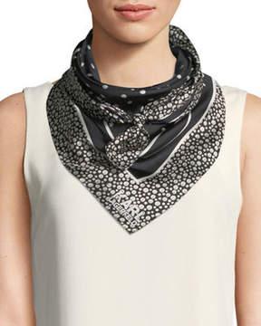 Karl Lagerfeld Pearl-Print Silk Scarf