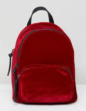 New Look Velvet Mini Back Pack