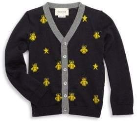 Gucci Baby's Bee Wool Cardigan