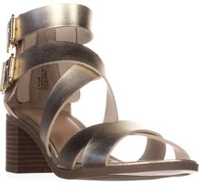 Material Girl Mg35 Danee Block Heel Strappy Sandals, Gold.