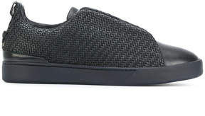 Ermenegildo Zegna woven textured sneakers