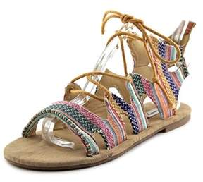 Coolway Malawi Women Open Toe Canvas Multi Color Gladiator Sandal.