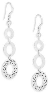 Lois Hill Triple Oval Drop Earrings