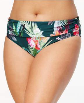 LaBlanca La Blanca Plus Size Beyond the Jungle Printed Tummy-Control Foldover Bikini Bottoms Women's Swimsuit